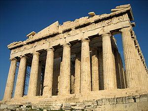 Parthenon - matatagpuan sa Acropolis, Gresya